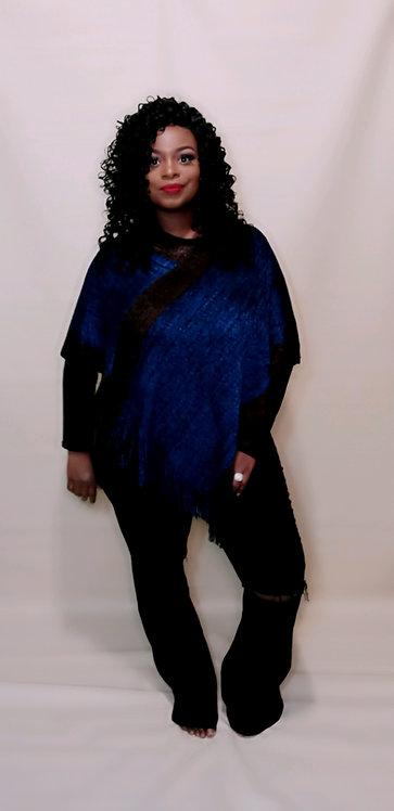 Jazzy Poncho (Royal Blue)