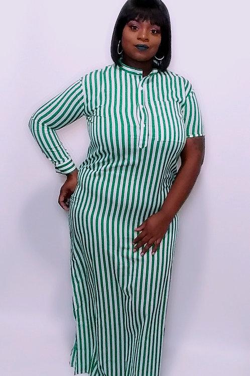 Stripe shirt maxi