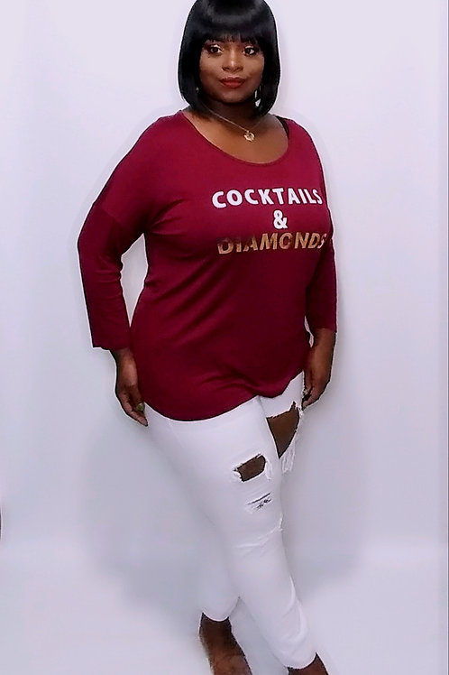 Cocktails & Diamonds Tee