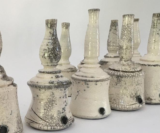 Raku-fired Bottles