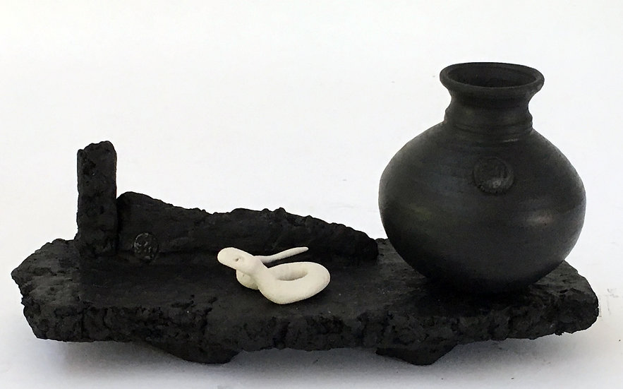 Still Life with Black bottle and Adder