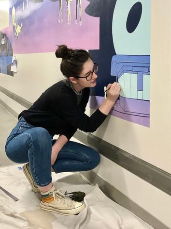 Passing Through Mural