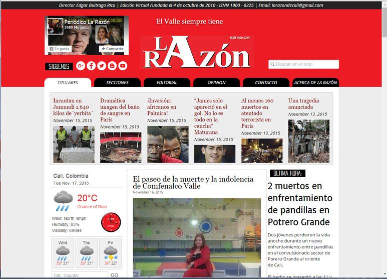 LA RAZÓN DE CALI - COLOMBIA