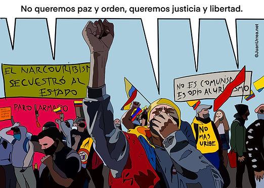 QUEREMOS JUSTICIA Y LIBERTAD