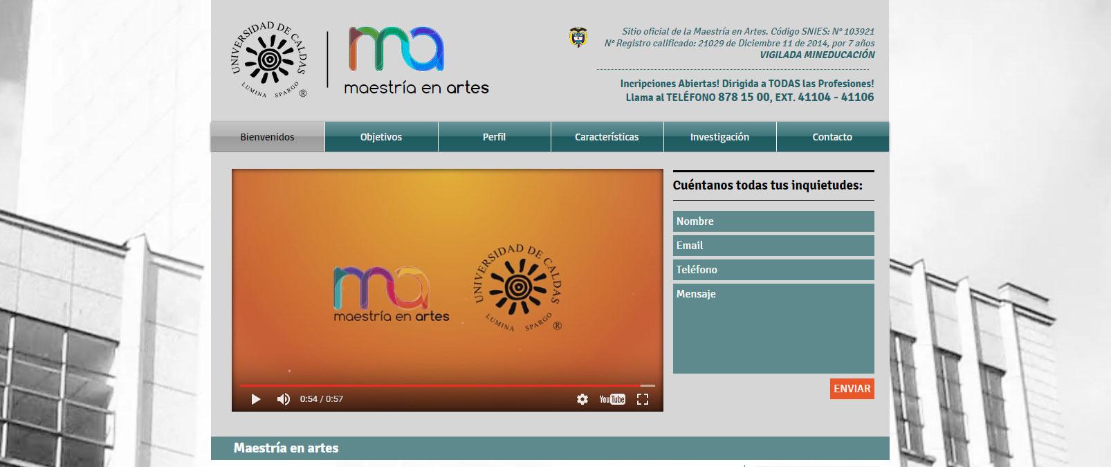 MAESTRÍA EN ARTES | COLOMBIA