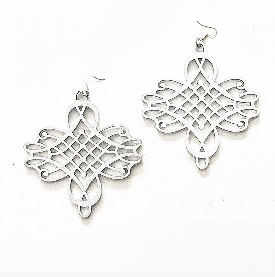 SANKOFA EARRINGS (SILVER)