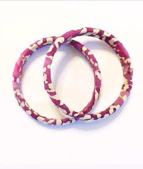 Fayola Fabric Wrapped Bracelet