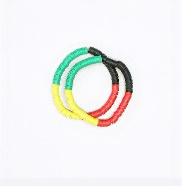 Rasta 2 Piece Bracelet Set