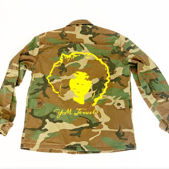 YM JEWELS CAMO JACKET YELLOW PRINT