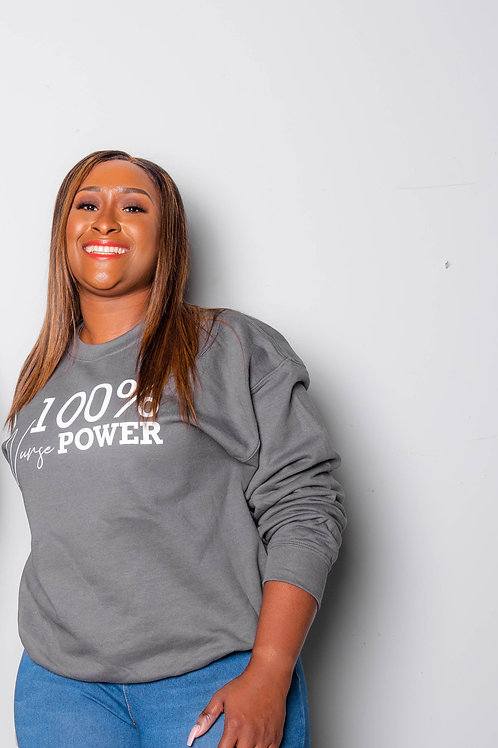 100% Nurse Power Sweater