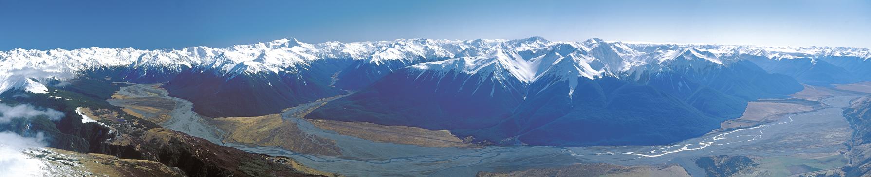 Arthurs Pass National Park panorama