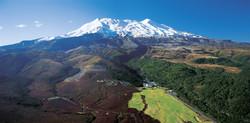 Whakapapa Village and Mt Ruapehu