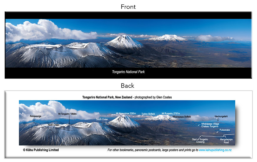 Tongariro National Park bookmark