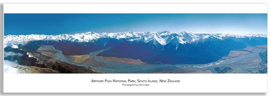 Arthur's Pass National Park mini poster