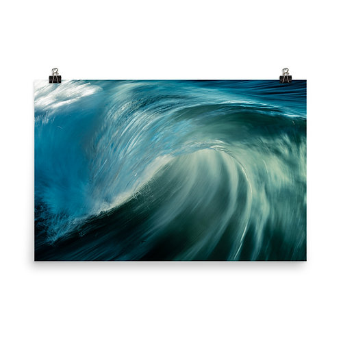 Splash Light Photo paper poster