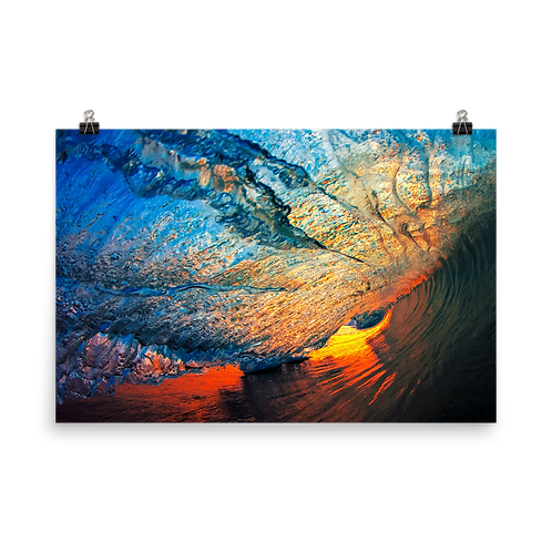Rainbow Curtain - Photo paper poster