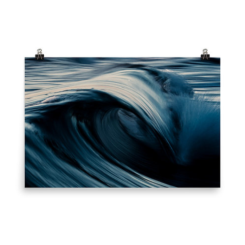 Blue Swirl - Photo paper poster