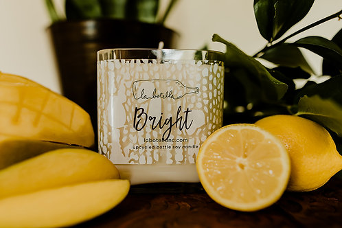 Small Upcycled Bottle Soy Candle