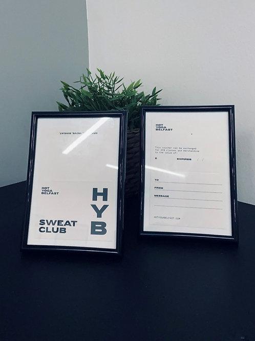 HYB Digital Gift Voucher : 5 Class Pass