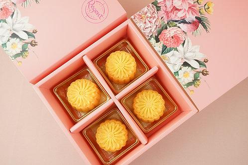 [限量] 香滑奶皇月餅4件裝禮盒 Golden Yolk Custard Moon Cake 4pcs Gift Box