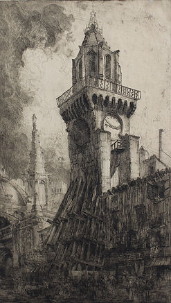 Louis Orr, AVIGNON, FRANCE, etching, 1909
