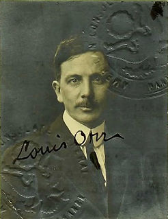 Louis Orr Passport Photo, 1920