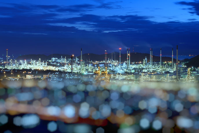 Petrochemical large oil-refinery plant b