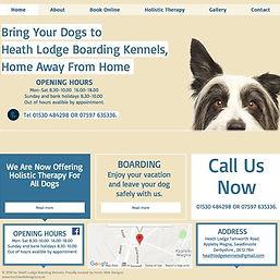 Hunts web designs. website for heathlodgebording kennels