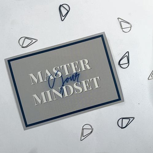 Master Your Mindset Postcard Print