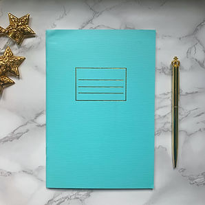 TURQUOISE HINTS OF GOLD NOTEBOOK GOLD CR