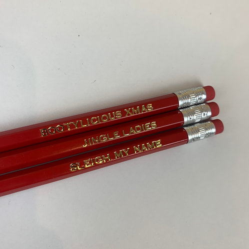 Jingle Ladies Pencil Trio