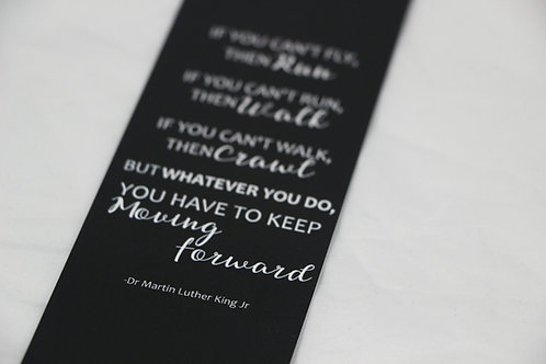 Black Martin Luther King Bookmark