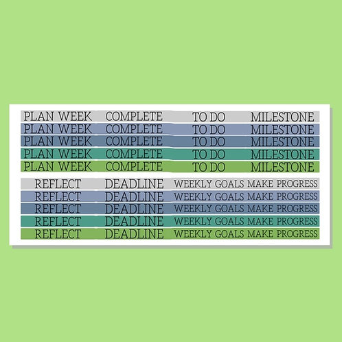 Goal-Setting Stickers