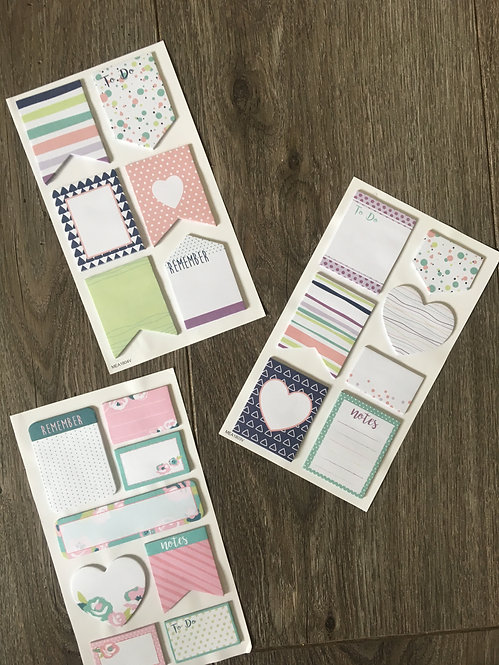 Assorted Sticky Notes Set