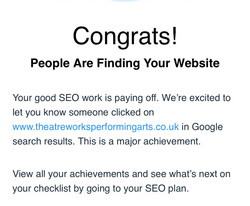 Google is working for our website he