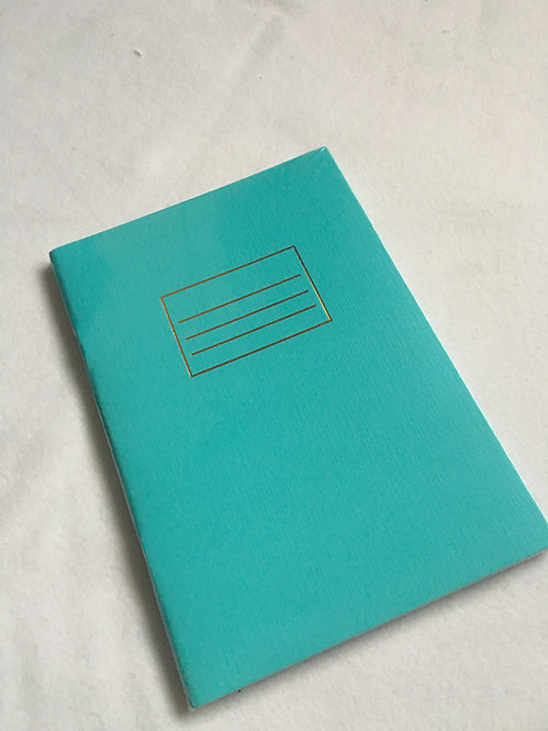 Turquoise and Gold A5 Notebook