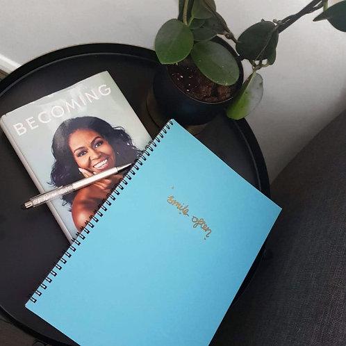 A4 Spiral Notebook- Smile Often | Goal-Getter Range
