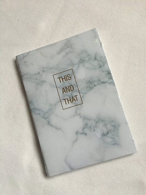 Marble and Gold A5 'This and That' Notebook