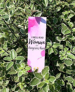 Watercolour 'Well Read Woman' Bookmark