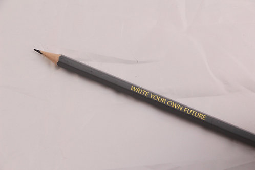 Grey Write Your Own Future Pencil