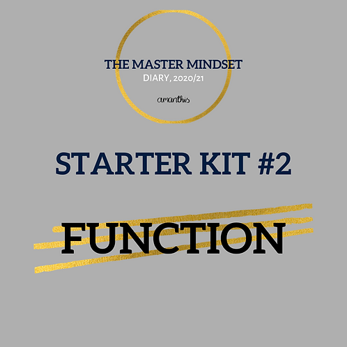 *FUNCTION STARTER KIT* The Master Mindset Academic Diary