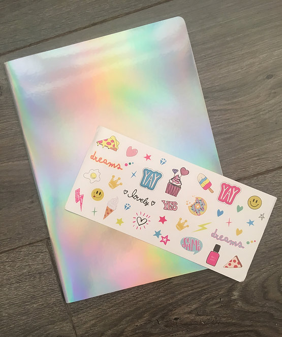 Holographic DIY Notebook *CLEARANCE*