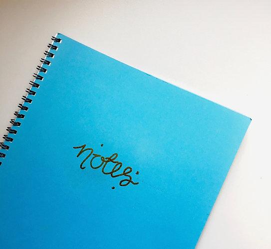 A4 Spiral Notebook- Notes