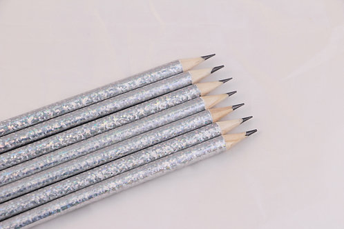 Silver Holographic Pencil