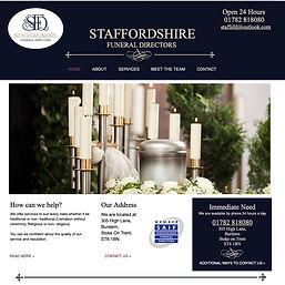 hunts web designs websie create for staffordshire funeral directors
