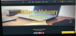 Huts Web Designs website for Miller & Mahoney online training course