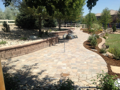 Patio and Retaining Wall