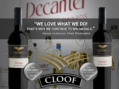 Cloof win two medals at Decanter World Wine Awards 2020!