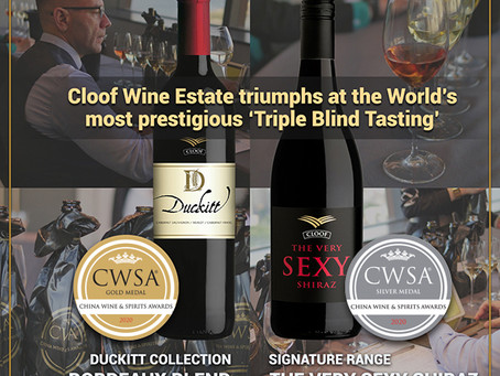 Cloof Wine Estate triumphs at the World's most prestigious 'Triple Blind Tasting'