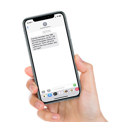 Iphone mockup with auto text reminder.pn